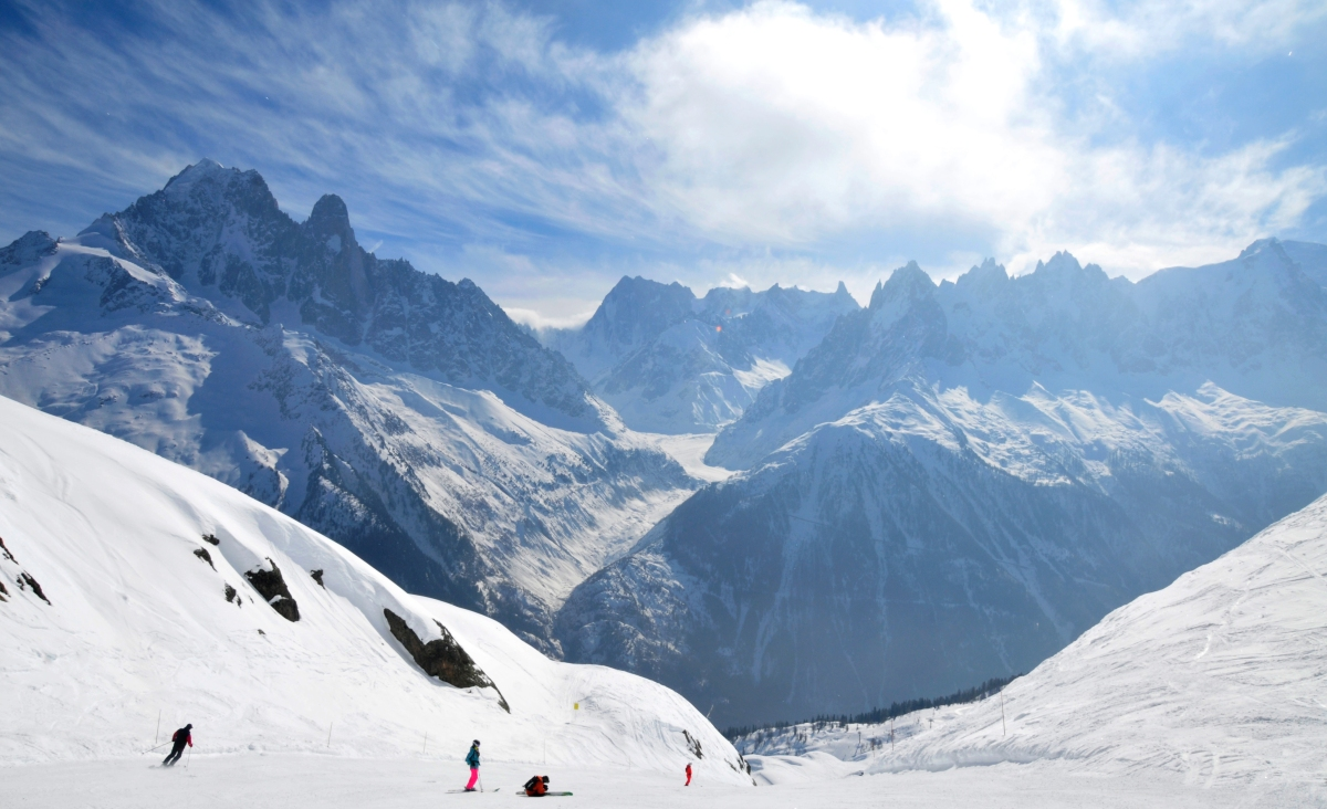 °Skiing in the Chamonix Valley