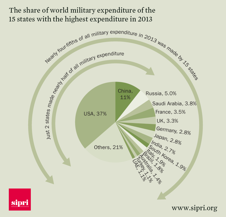 The-share-of-world-military-expenditure-of-the-15-states-with-the-highest-expenditure-in-2013