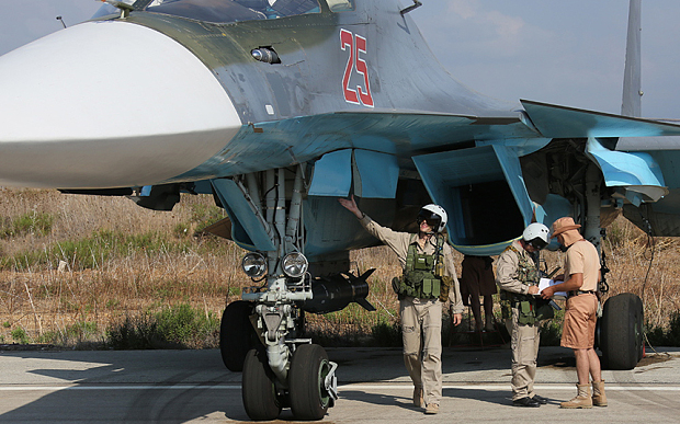 Russian Su-24 pilots at the Hmeymim airbase in Latakia, Syria Photo: TASS/Barcroft